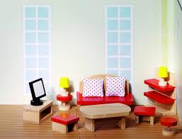 puppenhausmöbel set wohnzimmer goki basic