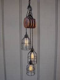antique pulley pendant light for living room living room