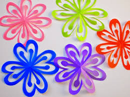 Easy Flower Paper Cutting Patterns How To Make Colorful Kirigami Flowers Pink Stripey Socks