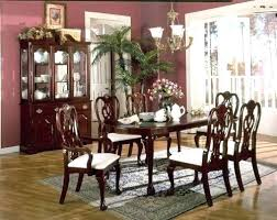 Cherry Wood Dining Table And Chairs Room Furniture Impressive