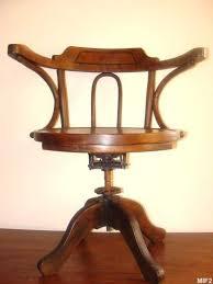 chaise de bureau antique fauteuil en bois courbé vers 1930