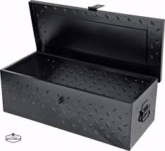 100 Truck Chest Tool Box Black Steel Bed Organizer Flatbed Storage