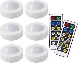 ledera kabellose led puck lichter küche unterschrank beleuchtung mit fernbedienung batteriebetrieben dimmbar 6 stück