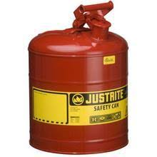fusible linked disposal bins for flammable waste storage conta