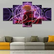 gemälde n a 5 tafeln kunst malerei wohnzimmer wand hd