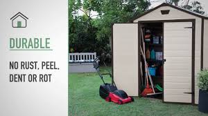 6x8 Storage Shed Plans by Keter Manor 6x8 Outdoor Garden Storage Shed Youtube