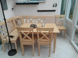 ikea essgruppe tisch mit glaseinlage und 6 stühlen top