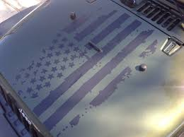 Distressed American Flag Hood Graphic
