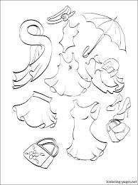 Winter Clothes Coloring Page Pages Summer Clothing