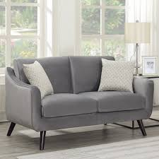 Bainbridge Grey Velvet 2 Seater Sofa Costco UK