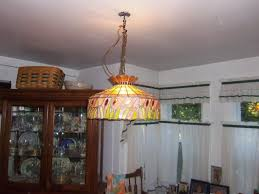 large stained glass hanging light chandelier kitchen or dining