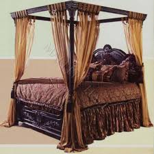 Queen Canopy Bed Curtains by Canopy Bed Home Design