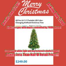 Ge Itwinkle Light Christmas Tree by Itwinkle Tree Reviews Beatiful Tree