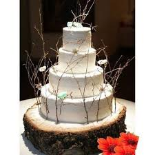 Rustic Wooden Log Cake Stand Wedding
