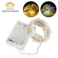 10M LED Tiny String Fairy Light Battery Operated Copper Silver Wire Christmas Tree Holiday Wedding Party BRIGHTINWD In Lighting Strings From Lights