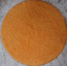 Round Orange Bath Mat Bathroom Ki Chataiyan Bagma Overseas New