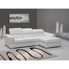 canapé d angle 4 places néto madrid eco cuir blanc avec