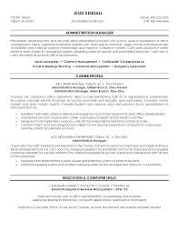 Samples Of Resumes For Administrative Positions Resume Executive Assistant Construction Sample