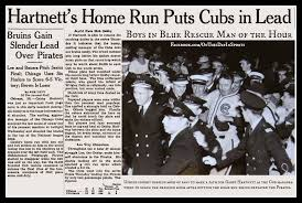On September 28 1938 With The Game About To Be Called By Darkness At Wrigley Field In Chicago Player Manager Gabby Hartnett Launched A Solo Shot Left