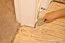 Fixing Hardwood Floors Without Sanding by How To Remove Carpet And Refinish Wood Floors Part 1 Classy Clutter