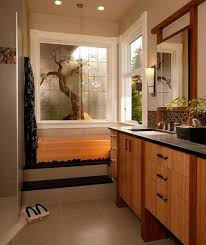 Plants For Bathroom Counter by Bathroom Stunning Asian Themed Master Bath With Nuetral Shades