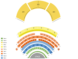 Northern Lights Theatre At Potawatomi Casino Seating Chart