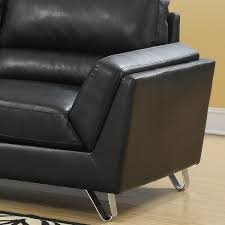 100 Contemporary Armchair Jayden Bonded Leather Black