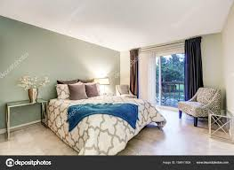 100 Bedroom Green Walls Master Bedroom Interior With Beige And Green Walls Stock