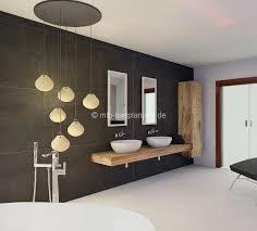 holz im badezimmer heller boden dunkelgraue wände