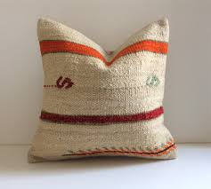 Cream Kilim Throw Pillow With Red & Orange Stripes, Bohemian ... Cool Collaboration Jenni Kayne X Pottery Barn Kids The Hive Best 25 Kilim Pillows Ideas On Pinterest Cushions Kilims Barn Wall Art Rug Instarugsus Turkish Pillow And Olive Jars No Minimalist Here Cozy Cottage Living Room Wall To Bookshelves Pottery Potterybarn Pillows Ebth Unique Common Ground Decorating With And Rugs 15 Beautiful Home Products In Marsala Pantones 2015 Color Of Cowhide Rug Jute Layered Rugs Boho Modern Rustic Home Decor Wood Chain Object Iron