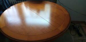 esstisch rund ausziehbar mahagoni massivholz für