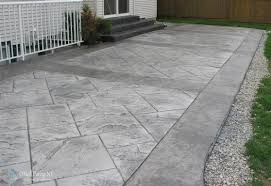 Stone Texture: Stamped Concrete Patio | Poured Concrete Patio ... Stone Texture Stamped Concrete Patio Poured Stamped Concrete Patio Coming Off Of A Simple Deck Just Needs Fresh Finest Cost Of A Stained 4952 Best In Style Driveway Driveways And Patios Amazing Walmart Fniture With To Pour Backyards Cement Backyard Ideas Pictures Pergola Awesome Old Home Design And Beauteous Dawndalto Decor Different Outstanding Polished Designs For Wm Pics On Mesmerizing