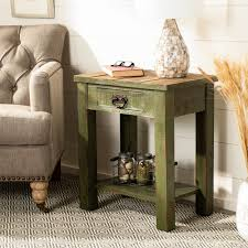 Safavieh Alfred Antique Green Accent Table - 21