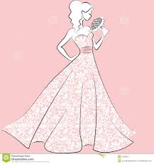 Lace Wedding Dress Clipart
