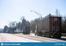 100 Weight Of A Semi Truck Big Rigs S Standing In Line To Station For Check