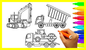 Incredible Learn Colors For Kids With Excavator Dump Truck And Crane ...