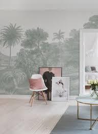 jungle land verdant moderne tapeten tapete wohnzimmer