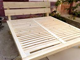 diy custom made king size bed frame this looks so simple and you