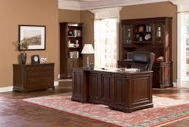 Brown Wood Desk Set