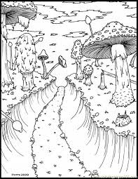 Hthroughmushroomforestsmall 1 Coloring Page