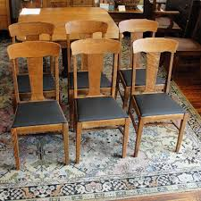 Set Of 6 Early 1900's Oak T Back Dining Chairs | Great Furniture ...