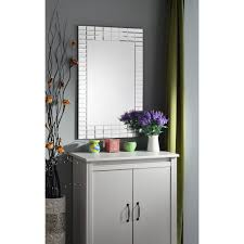 Dresser Mirror Mounting Hardware by Frameless Hanging Mirrors Bathroom Mirrors The Home Depot