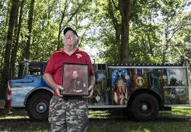 Herbert Delbridge Drives His Purple Heart Truck So Veterans Feel ...