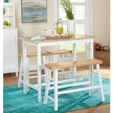 Simple Living 4 Piece Galena Modern Farmhouse Counter Height Set