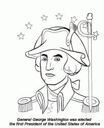 Coloring Page Of George Washington Az Pages Within