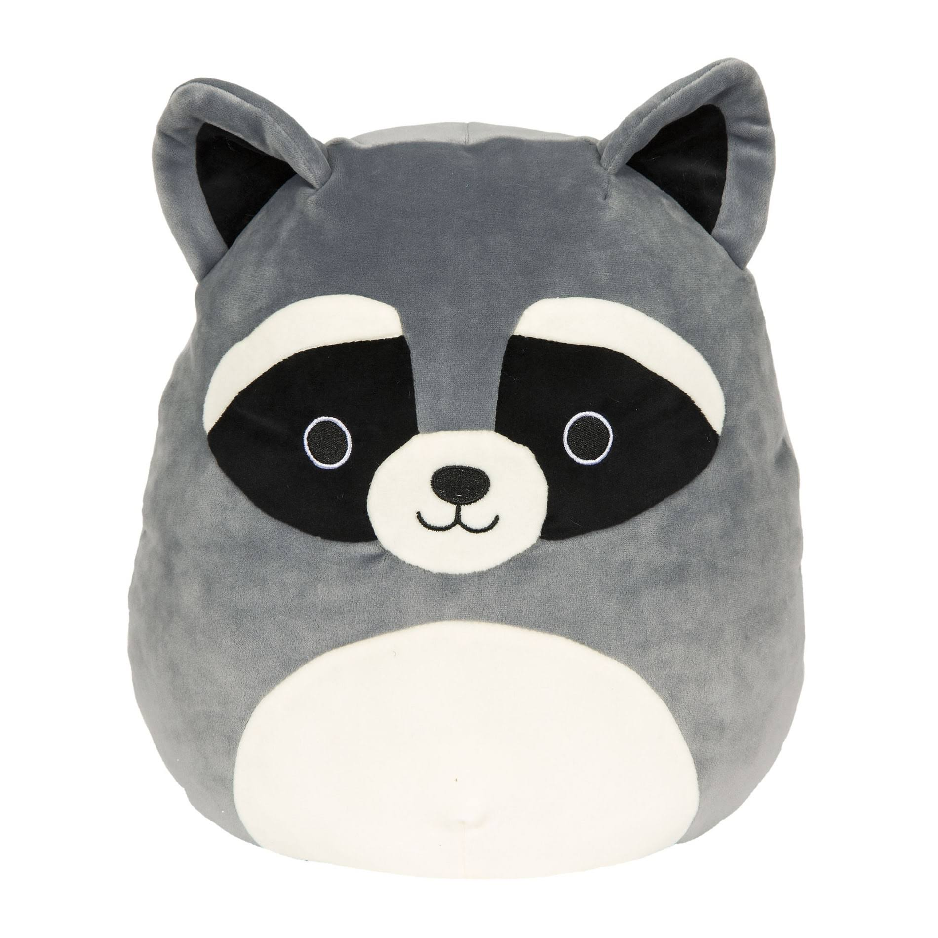 Squishmallow 16 inch Pillow Plush | Rocky The Grey Raccoon