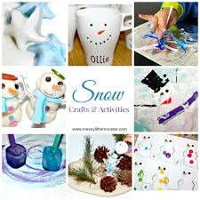 Snow Snowman And Snowflake Themed Winter Crafts Activities For Kids Suitable All