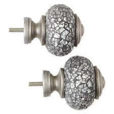 curtain rod finials gray for window jcpenney