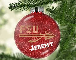 Personalized Ornament FSU Florida State SeminolesChristmas Gifts For