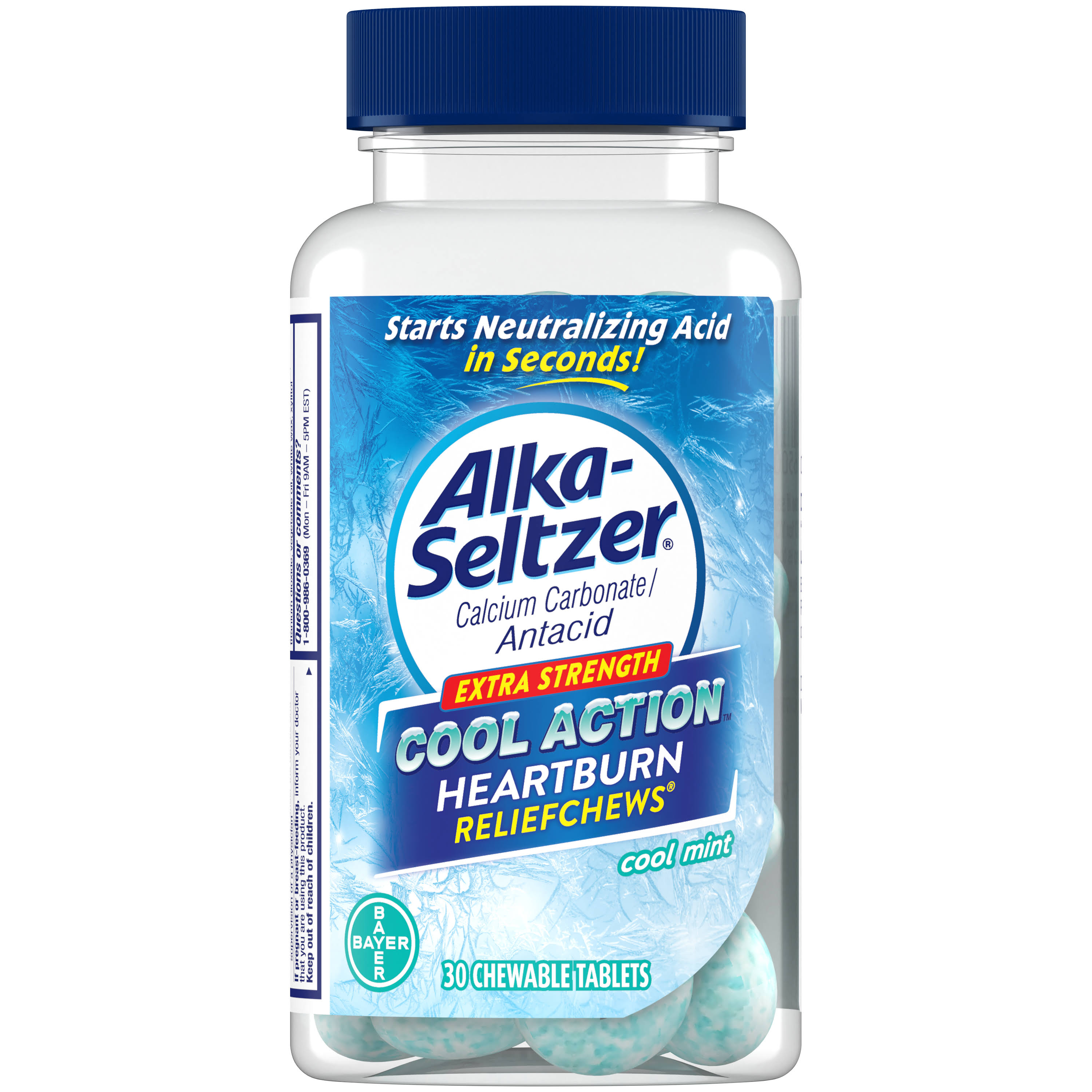 Alka Seltzer Cool Action Heartburn Relief Chews - Cool Mint, 30ct